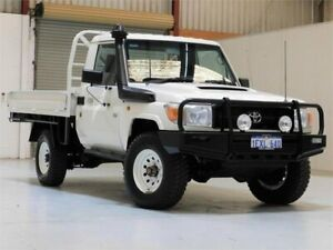 2015 Toyota Landcruiser VDJ79R Workmate White 5 Speed Manual Cab Chassis Yangebup Cockburn Area Preview