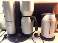 Siemens Porsche coffee machine and matching kettle
