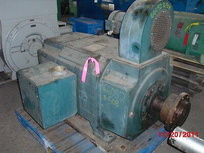 250 HP DC Reliance Electric Motor, 850 RPM, UB508ATZ Frame, DPFV, 500 V Arm.