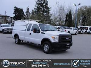 2012 FORD F-250 SUPER DUTY XL EXT CAB LONG BOX 4X4 *CANOPY*