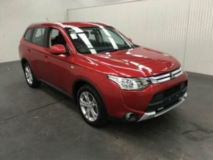 2014 Mitsubishi Outlander ZJ MY14.5 ES (4x4) Red Continuous Variable Wagon Moonah Glenorchy Area Preview