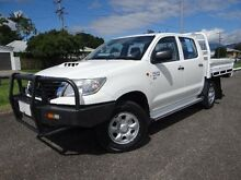 2013 Toyota Hilux KUN26R MY12 SR (4x4) White 5 Speed Manual Dual Cab Chassis Bungalow Cairns City Preview