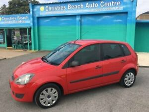 2008 Ford Fiesta WQ LX Red 4 Speed Automatic Hatchback Christies Beach Morphett Vale Area Preview