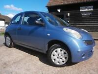 0555 NISSAN MICRA 1.2 16v S AUTOMATIC 3DR LOW MILEAGE 46K 1 LADY OWNER FROM NEW.