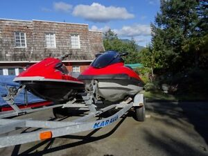 ONE OWNER PAIR OF 4 STROKE YAMAHA 3 SEATER JET SKIS
