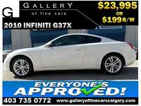 2010 Infiniti G37x COUPE $199 bi-weekly APPLY NOW DRIVE NOW