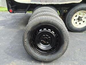 4x 175/65/14 rims 14po 4x100 et pneus hiver clous