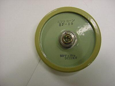 Doorknob Capacitor Model Sf 80 50 Pf -10 22 Kvdc
