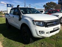 2013 Ford Ranger PX XL 3.2 (4x4) White 6 Speed Manual Dual Cab Utility Young Young Area Preview