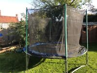 Atlantic 10ft trampoline with enclosure