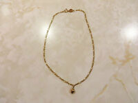 9k Yellow Gold Anklet Fine Figaro Link