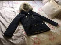 Top shop ladies/girls navy jacket petite 10