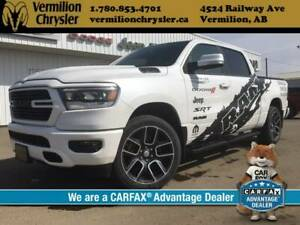 2019 Ram 1500 Sport *Manager Demo* H/C Leather, NAV, Box Cover,
