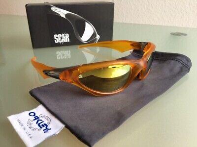 Sonnenbrille Oakley Scar / Butterscotch + 24 K Gold Iridium ** Neuzustand **