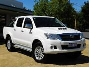 2015 Toyota Hilux KUN26R MY14 SR5 Double Cab White 5 Speed Manual Utility Victoria Park Victoria Park Area Preview