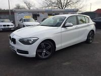 BMW 1 SERIES 2.0 118D SPORT 5d 141 BHP £9750 OR from &pou (white) 2012
