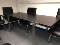 Used Meeting Room Table and Chairs