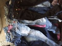 7 pairs of Jeans size 8 for sale