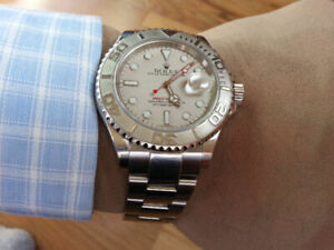Rolex, Yacht Master, 40mm, Platinum, with box, mint condition.
