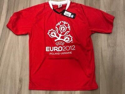 UEFA  CUP  EURO  2012  POLAND- UKRAINE  SOCCER  JERSEY  BRAND  NEW  image