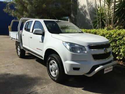 2014 Holden Colorado RG MY14 LX (4x4) White 6 Speed Manual Crew Cab Chassis Bowen Hills Brisbane North East Preview
