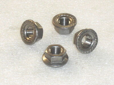 4X M10X125 A4 316 MARINE STAINLESS STEEL FLANGE NUTS METRIC FINE M10