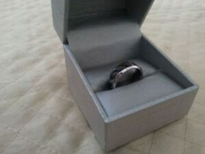Tungsten & Carbon Ring from Peoples Jewellers