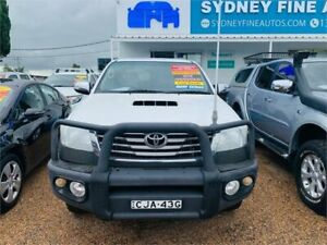 2013 Toyota Hilux KUN26R MY14 SR5 Double Cab White 5 Speed Automatic Utility Minchinbury Blacktown Area Preview