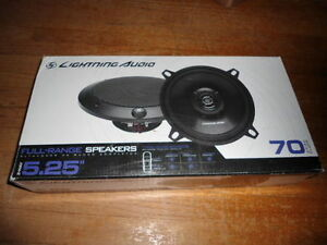 "Lightning Audio 5.25"" Speakers New In Box 4 Ohm"