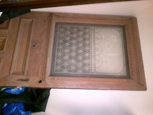 Antique DOOR-soild wood and glass NOW REDUCED PRICE