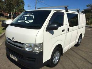 2008 Toyota Hiace TRH201R MY07 Upgrade LWB White 5 Speed Manual Van