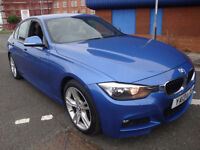 13 BMW 3 SERIES 318D M SPORT LEATHER £30 A YEAR ROAD TAX