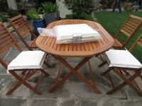 GARDEN TABLE AND CHAIRS EXCELLENT CONDITION