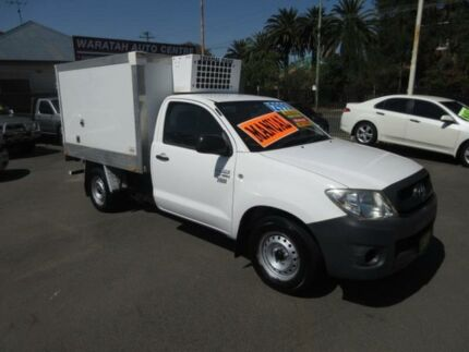 2009 Toyota Hilux TGN16R 08 Upgrade Workmate White 5 Speed Manual Cab Chassis Waratah Newcastle Area Preview