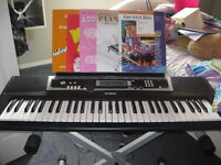 Key Board, stand, books and stool