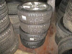 225/50 R17 AUDI A5 WINTER TIRES AND RIMS PACKAGE (SET OF 4) - USED MARANGONI METEO HP TIRES APPROX. 85% TREAD