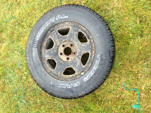 4 studded winter tires and rims p235/70 r16