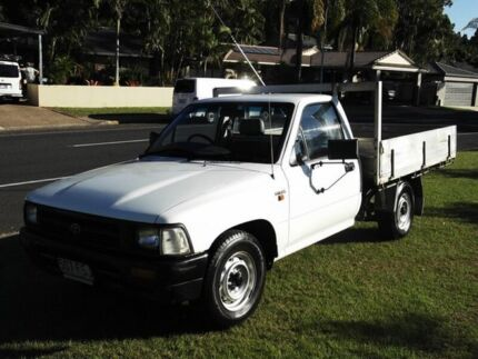 1997 Toyota Hilux RN85R White 4 Speed Automatic Burleigh Waters Gold Coast South Preview