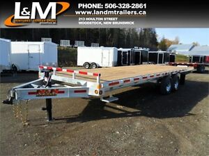 "NEW 2017 N&N GALVANIZED 102"" X 24' DECK OVER EQUIPMENT TRAILER"