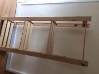 Wooden storage rack
