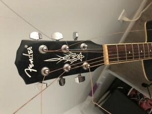 Fender electric acoustic with amp an cord