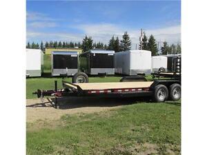 2016 Mirage 7X22 Utility Flat Deck Trailer w. Stand Up Ramps Edmonton Edmonton Area image 3