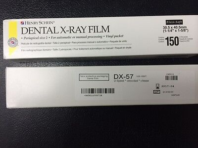 Dental X-ray Film Dx-57 D-speed 150 Each Box1500 Total Equivalent To Kodak Df-57