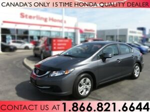2013 Honda Civic Sdn LX | 1 OWNER | NO ACCIDENTS