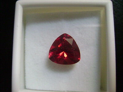 Lab Grown Round Ruby 10mm Trillion Cut Lot of 10 Stones