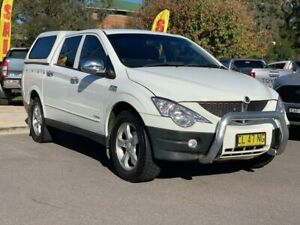 2008 Ssangyong Actyon Sports 100 Series MY08 Sports White 6 Speed Automatic Utility