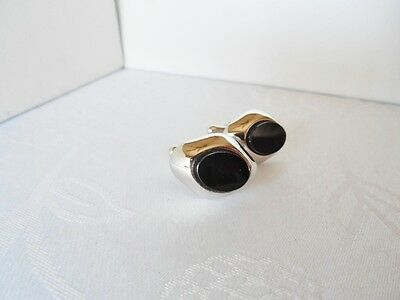 Vintage Silvertone & Black Cufflinks M15 on Rummage