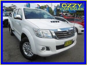 2013 Toyota Hilux KUN26R MY12 SR5 (4x4) White 4 Speed Automatic Dual Cab Pick-up Penrith Penrith Area Preview