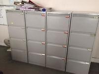 4 Drawer Bisley Filing Cabinets