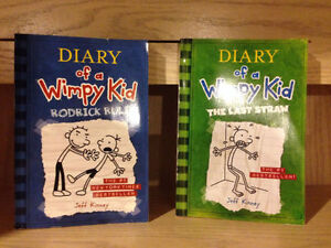 2 Diary Of A Wimpy Kid Books (soft cover)